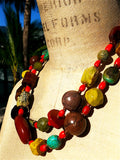 Necklace Double Length Chunky Mix