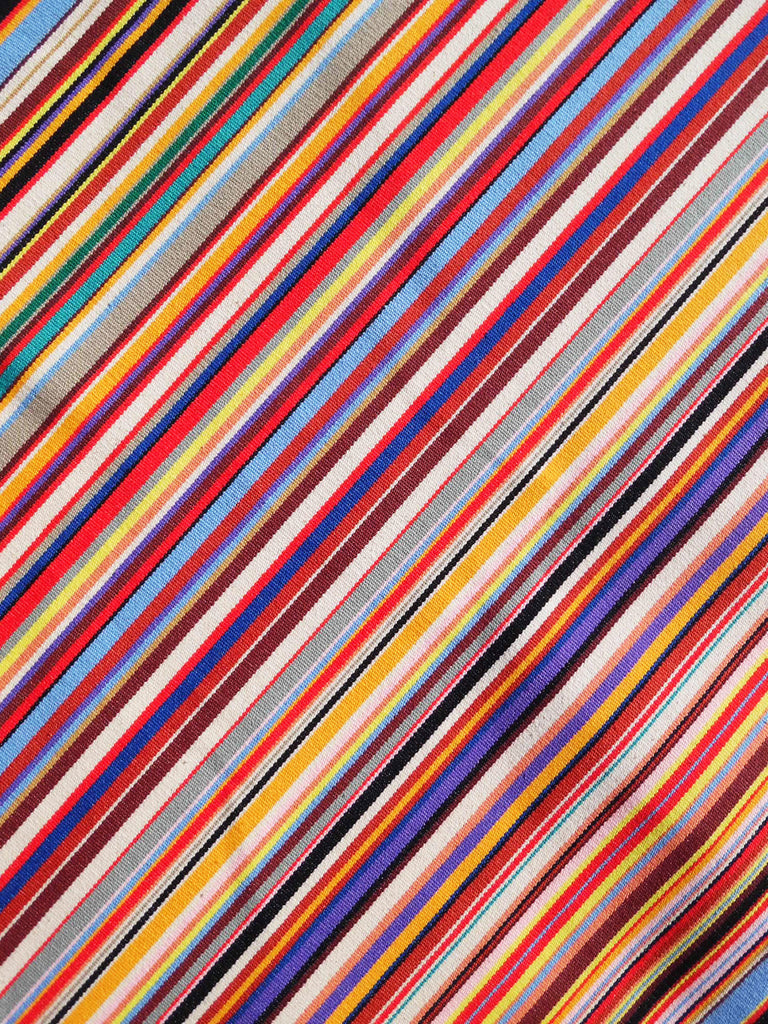 French Cotton Canvas Striped Textile Multi