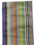 French Cotton Canvas Striped Textile Pastel