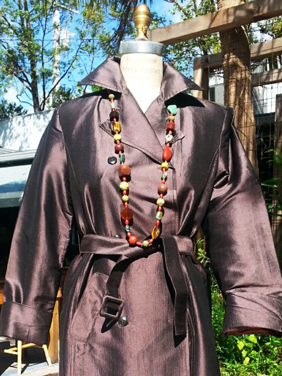 The Matahari Silk Trench Coat