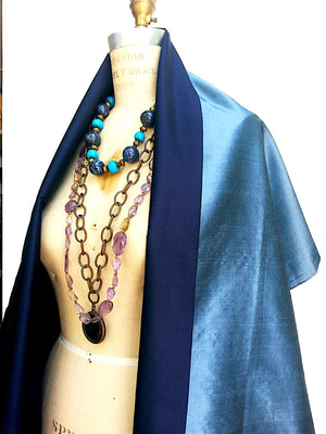 Double Sided Evening Shawl Thai Silk