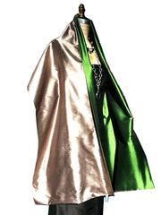 Double Sided Evening Shawl Pewter Verde