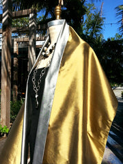 Double Sided Evening Shawl Brass and Silver