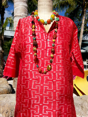 Silk Ikat Tunic Shirt