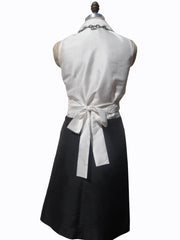 Thai Silk Taffeta Sleeveless Wrap Shirt Black Or White