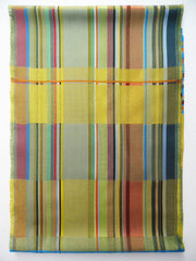 Scarf Silk Colorblock Yellow Multi