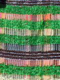 Scarf Lambswool Cotton Mohair Colorblock Green Grey Multi