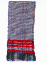 Scarf Lambswool Cotton Mohair Colorblock Lavender Heather Multi
