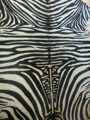 Cowhide Zebra Print On Light Beige