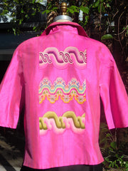Couture Cut Peace Jacket Hot Pink And Swirls