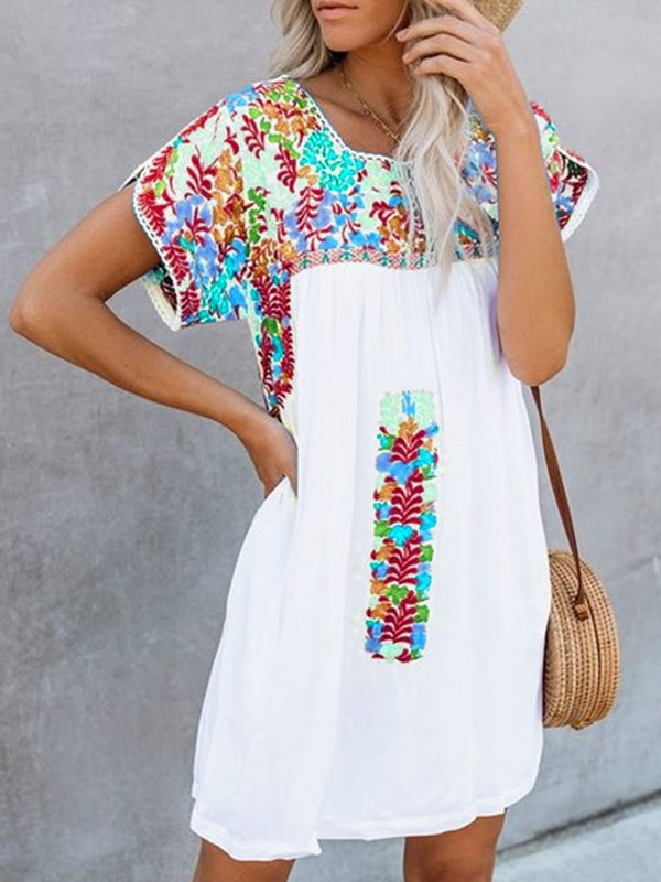 Vintage Short Sleeve Dresses For Women
