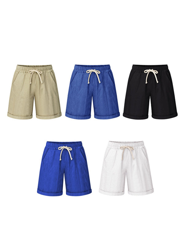 Size M-6XL Drawstring Pockets Casual Shorts