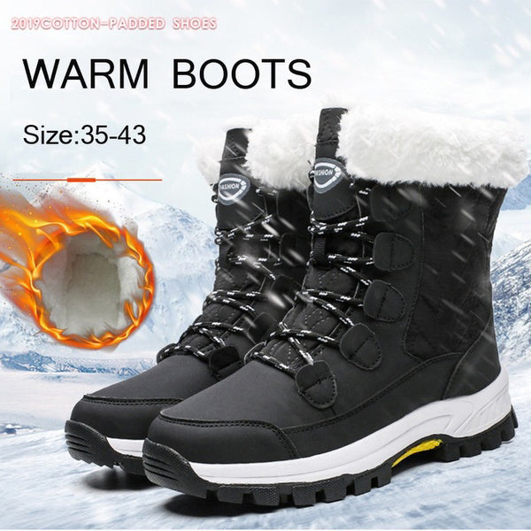 Plus Size Waterproof Outdoor Snow Warm Boots
