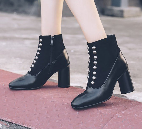 Chunky Heel Holiday Boots