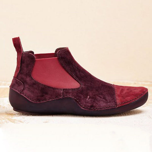 Athletic Style Slip On Ankle Boots