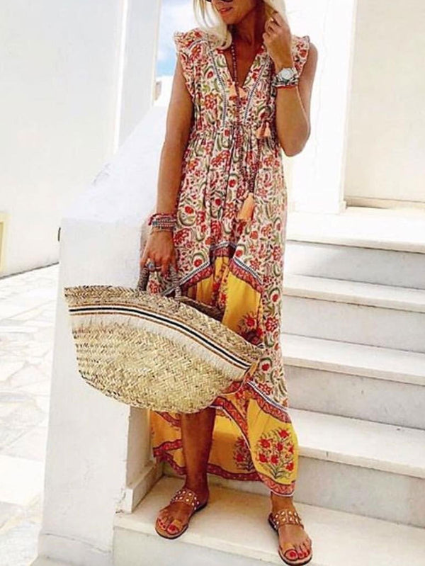 Floral Print Hoiday Beach Casual Shift Dress