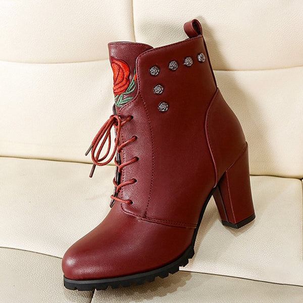 Zipper Holiday Boots