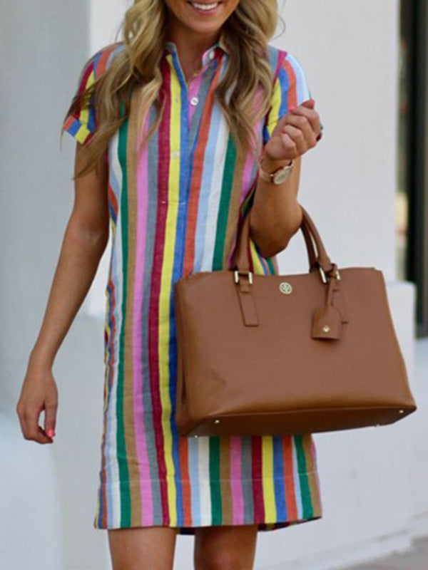 Multicolor Shift Casual Dresses