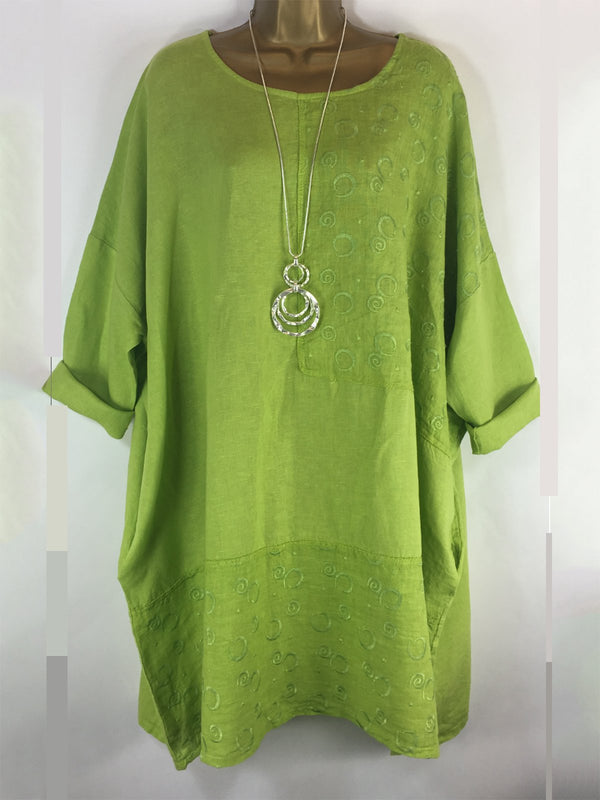 Casual Half Sleeve Tunic Blouse