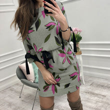 Load image into Gallery viewer, Mini Bow O-neck Half Sleeve Fashion Party Dress