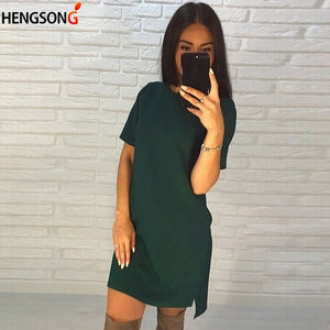Mini O-neck Short Sleeve Elegant Party Dress