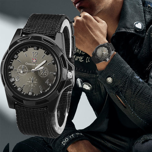 Tactical Male Fabric Canvas Strap Watch
