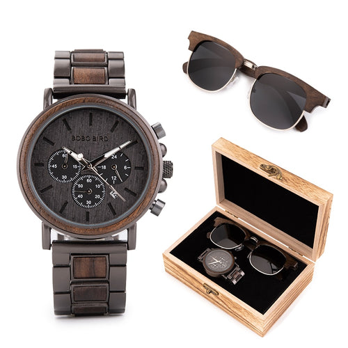 Men Suit Watch Sunglasses Present  Gift Box Set