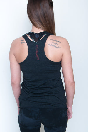 Women's Racerback Tank - BBP Logo Black/Red