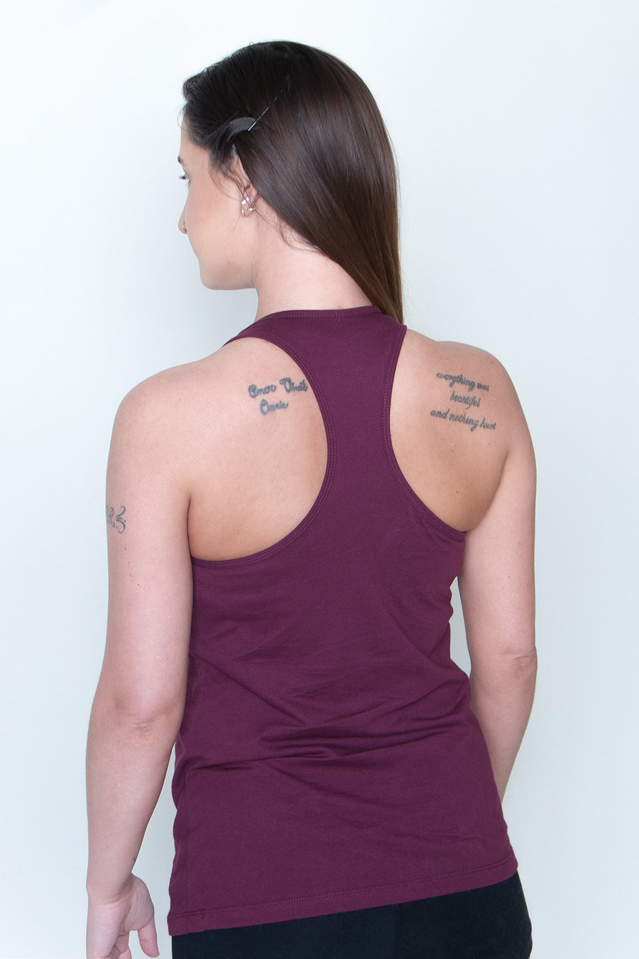 Women's Racerback Tank - Made In The USA Maroon/White