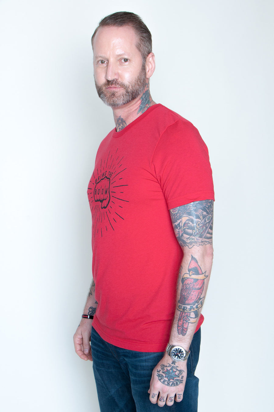 Men's Tee - Bring The Boom Fist Red