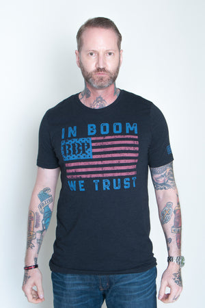 Men's Tee - In Boom We Trust Black
