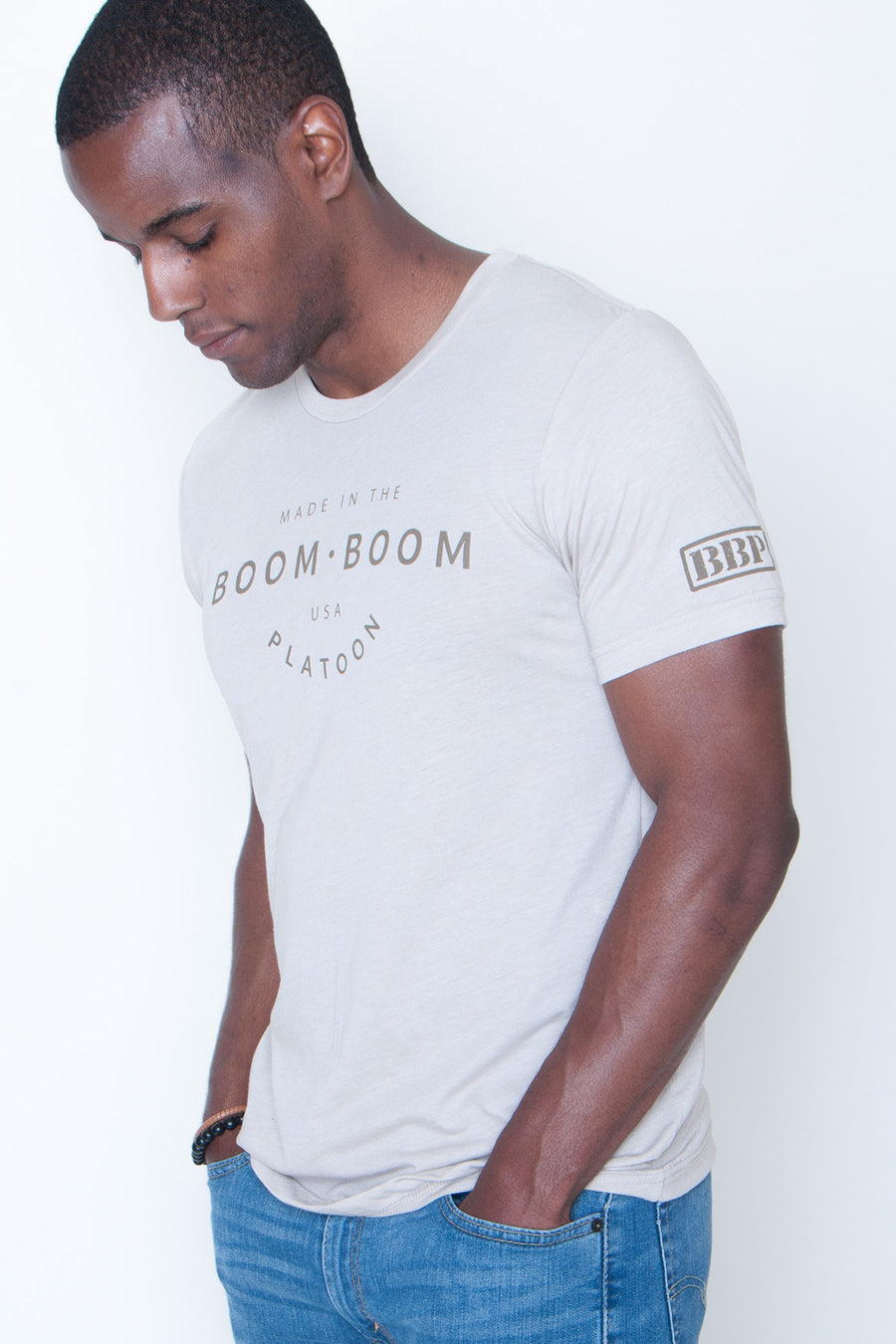 Men's Tee - Made In The USA Tan