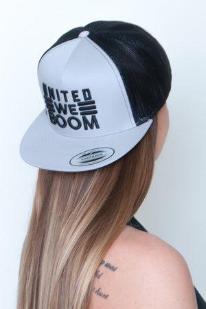 Snapback Mesh High Profile Hat - United We Boom