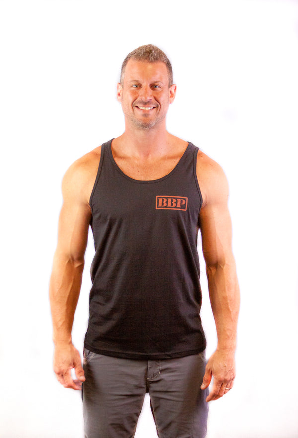 Men's Tank - BBP Logo Black/Red