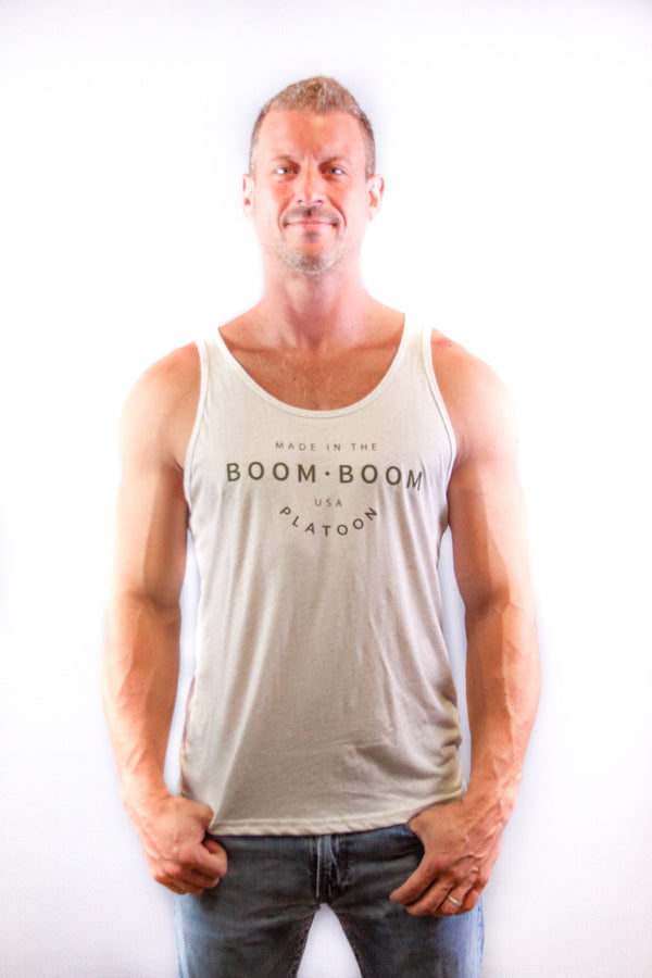 Men's Tank - Made in the USA Tan Heather