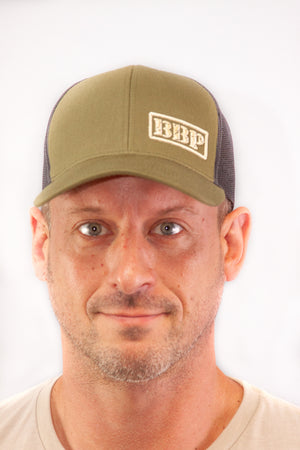 Trucker Hat - Olive Green and Black BBP