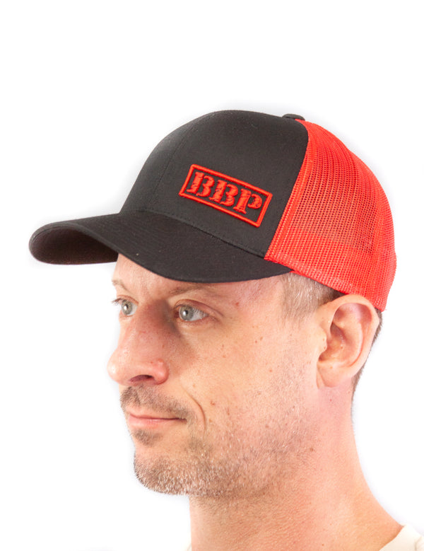 Trucker Hat - Black and Red BBP