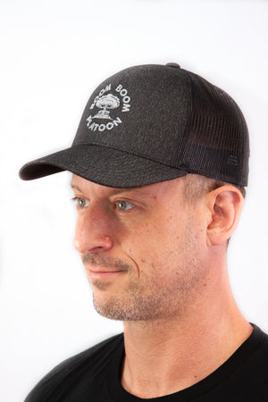 Trucker Hat - Grey Cloud on Black Graphite