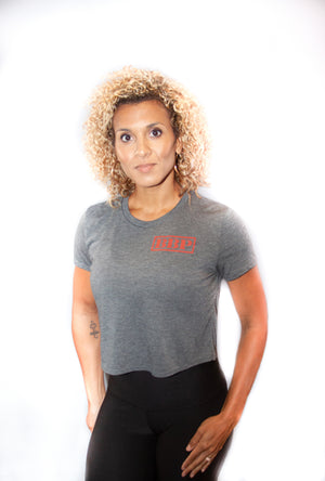 Women's Mid Tee - BBP Logo Grey/Red