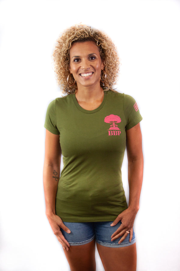 Women's Tee - Mushroom Cloud Green/Pink