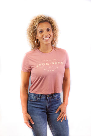 Women's Mid Tee - Made In The USA Pink/Tan