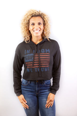 Women's Cropped Hoodie - In Boom We Trust