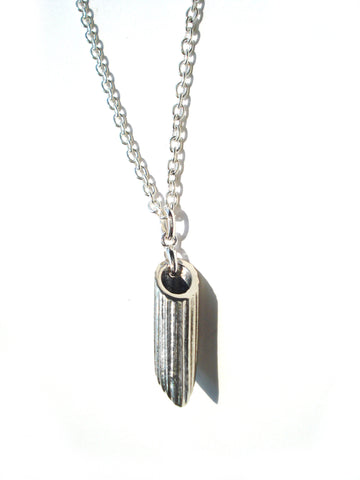 Sterling Silver Penne Pendant