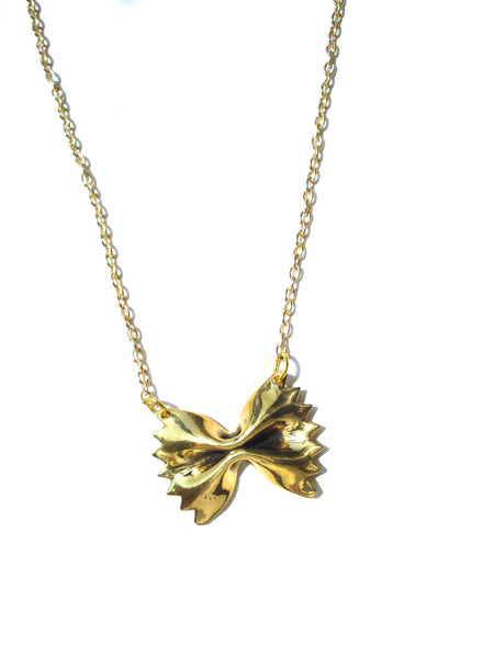 18k Gold Plated Farfalle Pendant