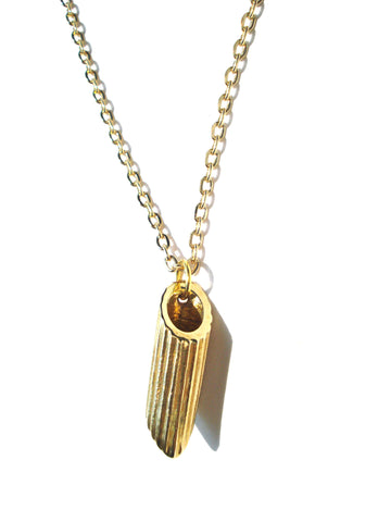 18k Gold Plated Penne Pendant