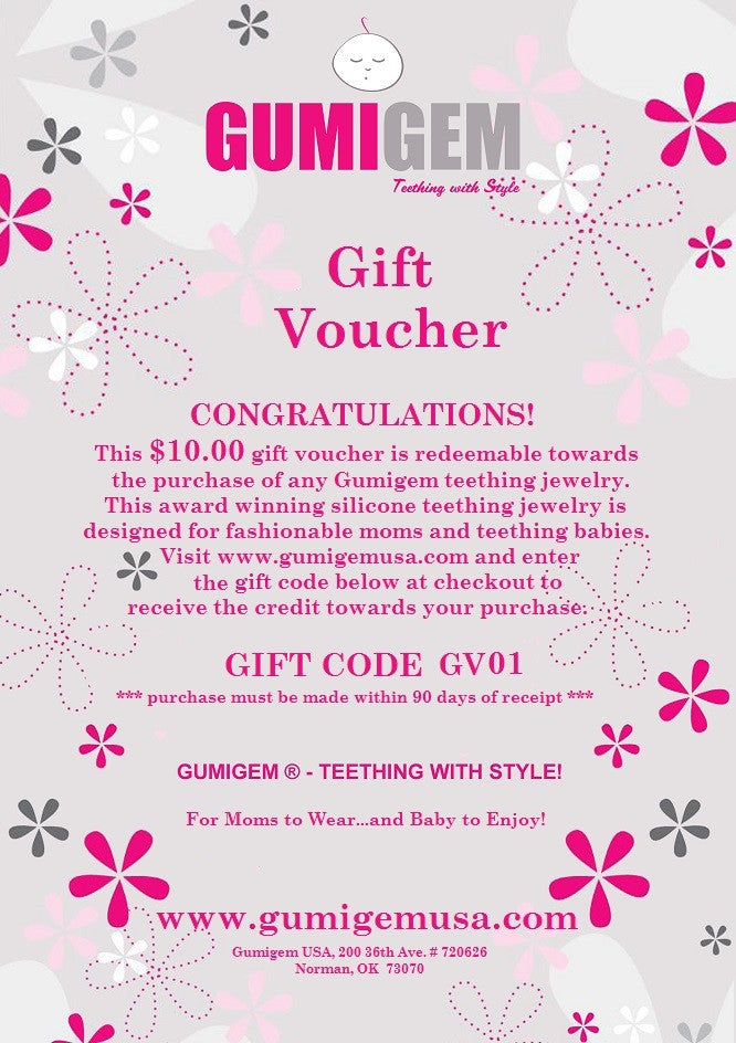 Gift Voucher - Emailed - $10.00