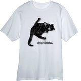 Cute Cat Yoga design Novelty T Shirt