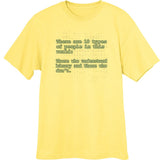 Binary Funny Novelty T Shirt