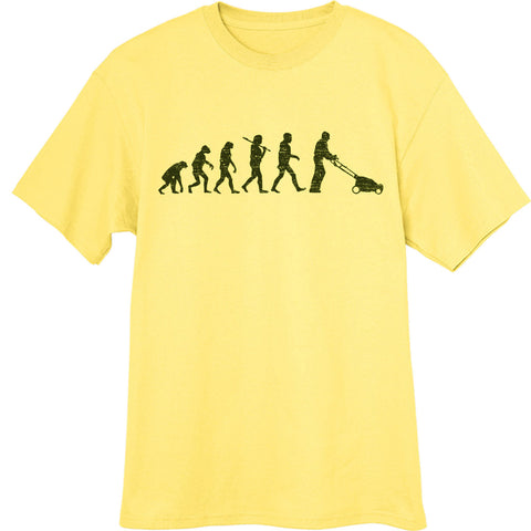 Evolution-of-Lawnmowing-Novelty-T-Shirt-Yellow