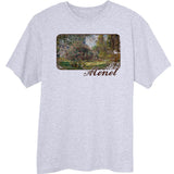 Monet-s-Park-Monceau-painting-Novelty-T-Shirt-Ash
